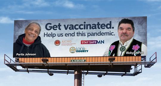 Get vaccinated billboard