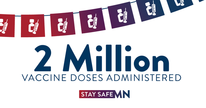 2 million vaccine doses administered