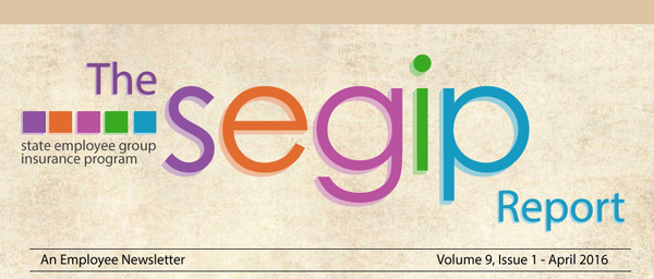The SEGIP Report - An employee newsletter - Volume 9, Issue 1 - April 2016