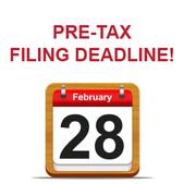 Pre-tax filing dealine is February 28, 2017.