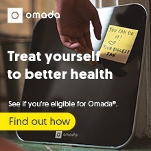Omada scale that you receive when you sign up for the program.