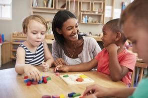 Daycare teacher with 3 kids.