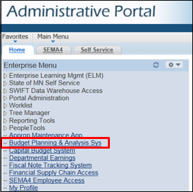 Statewide Administrative Portal
