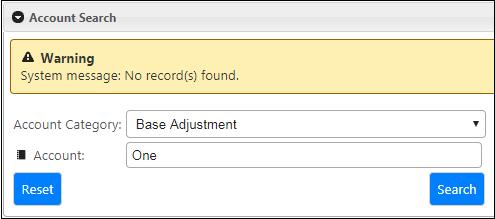 BPAS Account Search Screen