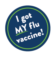 I got MY flu vaccine! sticker.