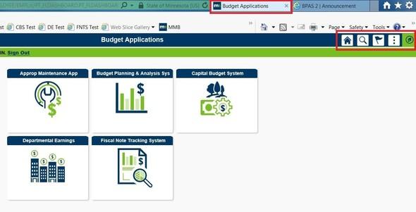 Budget Applications Tab