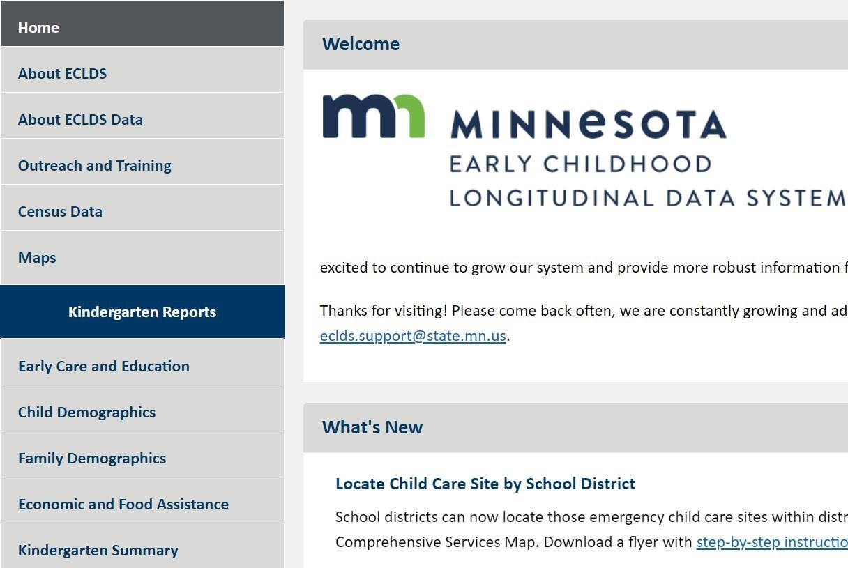 Kindergarten Report