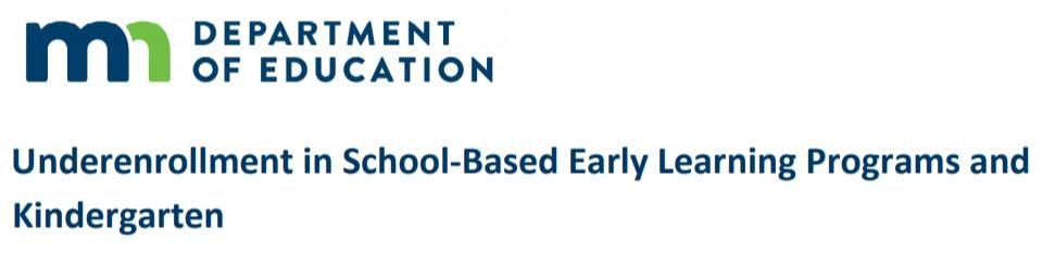 underenrollment report header