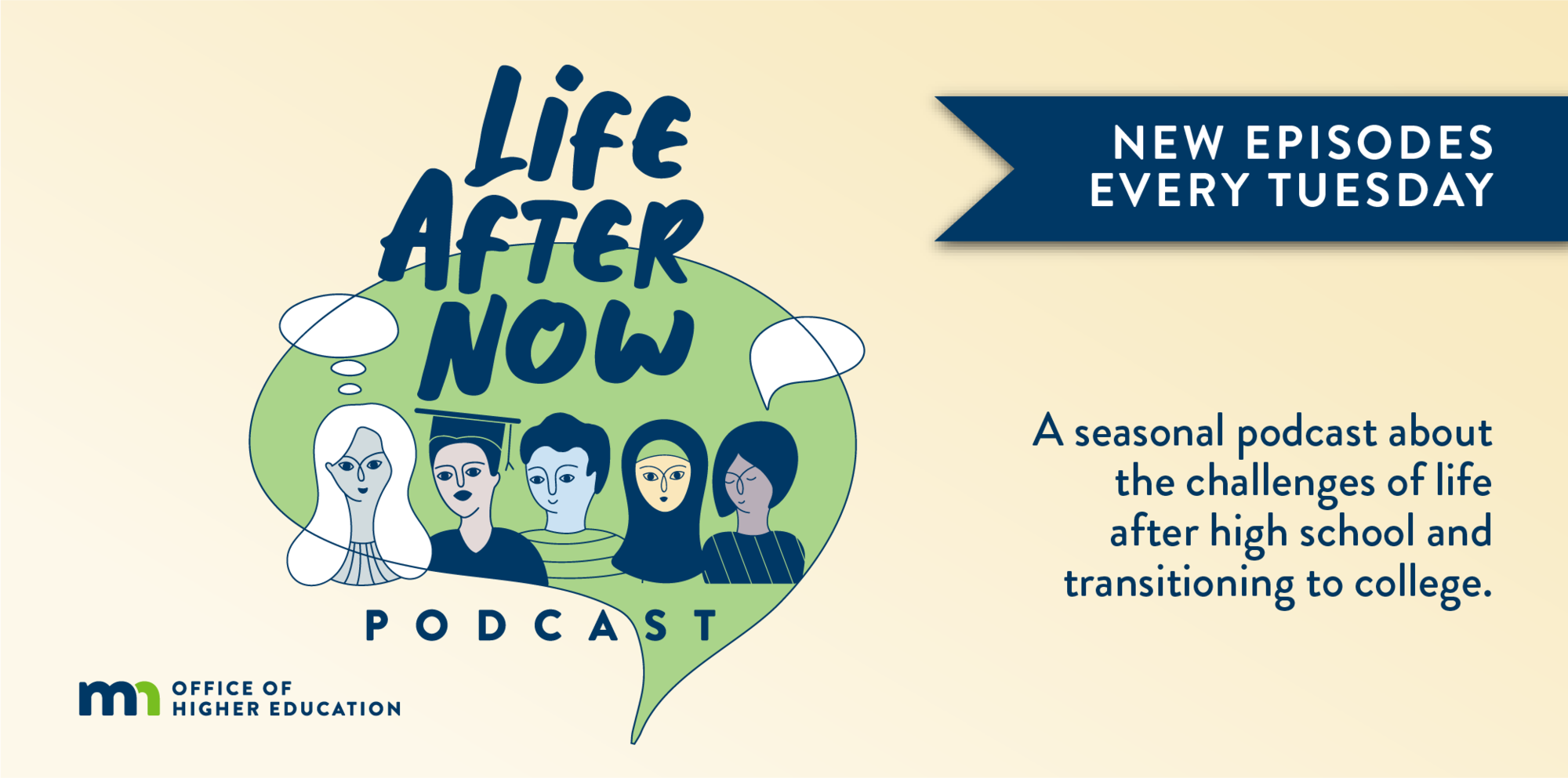 Banner: Life After Now Podcast. New episodes every Tuesday