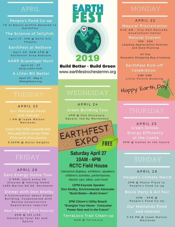EarthFest Schedule