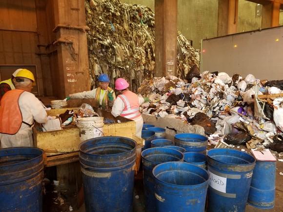 Waste Sort - OWEF Tipping Floor