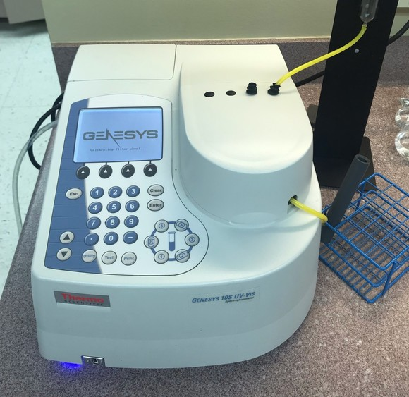 Spectrophotometer used for nitrate testing