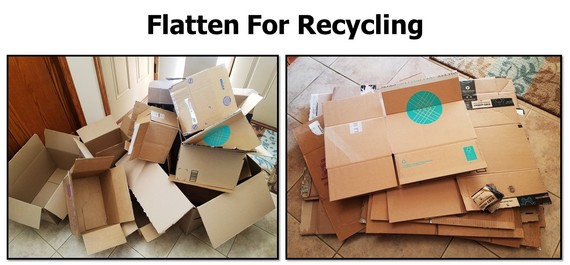 Flatten Cardboard Boxes For Recycling