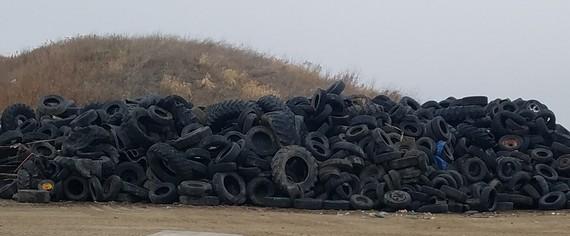 Tires at Kalmar Landfill