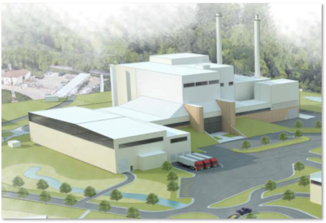A rendering of the potential Materials Recovery Facility attached to the Olmsted Waste-to-Energy Facility