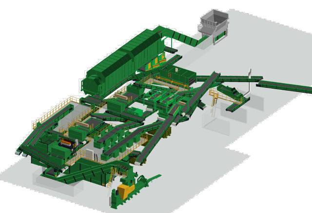 Sorting lines at a Materials Recovery Facility