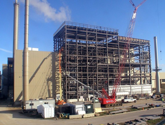 Olmsted Waste-to-Energy Facility Unit 3 under construction