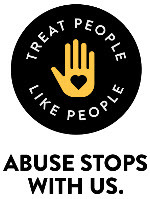 Treat People Like People Logo with Tagline