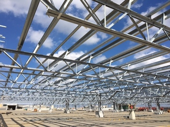 steel structure at terminal 2