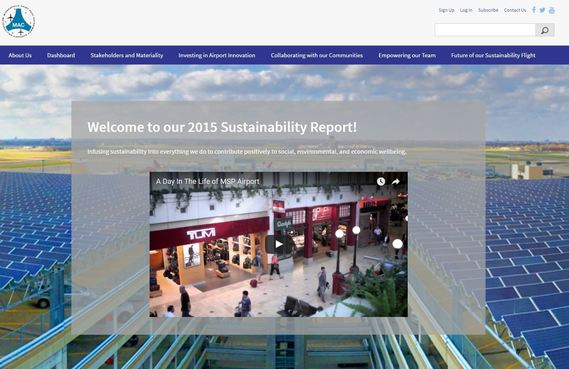 sustainability website home page