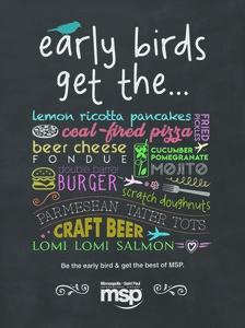 early bird advertisement