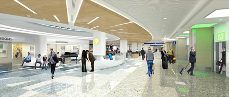 new baggage claim level center