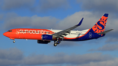 sun country plane new livery