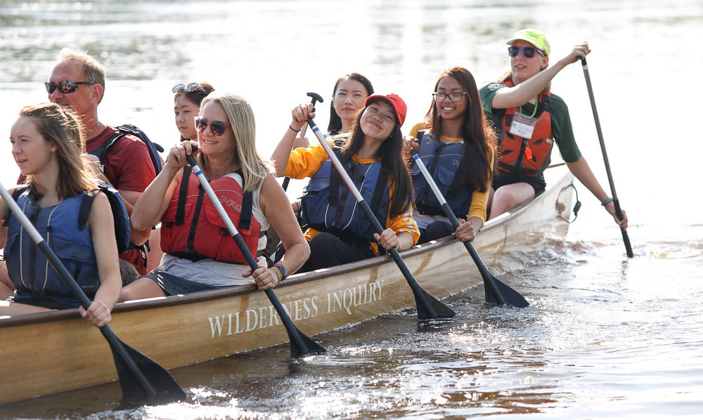 Paddlers at Share the River Nordeast