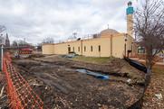 Construction progress at Masjid An-Nur.