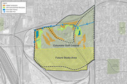 Northern Columbia Golf Course Stormwater BMPs project map.