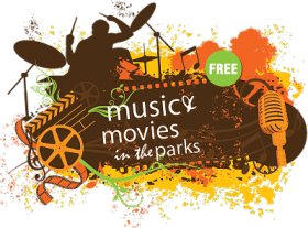 music and movies in the park logo