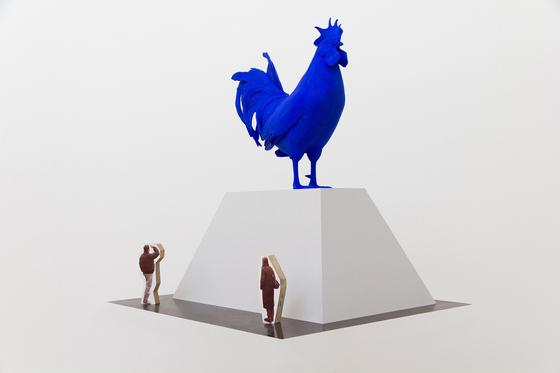 "Katharina Fritsch, rendering of ""Hahn/Cock"""