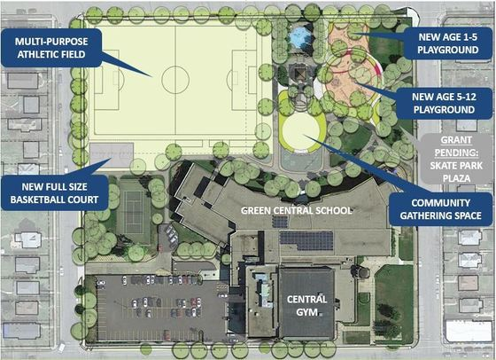 Central Gym Park - phase 1 improvements map