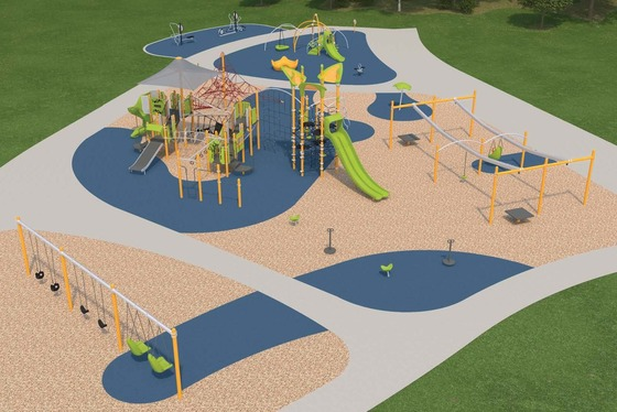 Proposed concept for new playground at Peavey Park