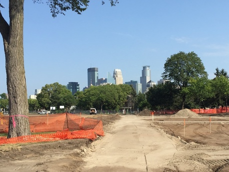 Peavey Park phase 2 construction