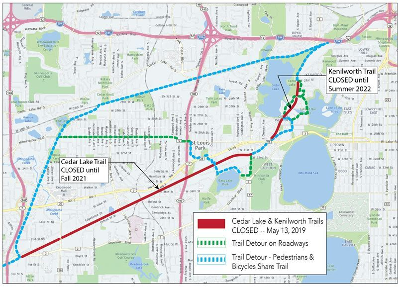 Cedar Lake Trail and Kenilworth Trail close on Monday, May ...