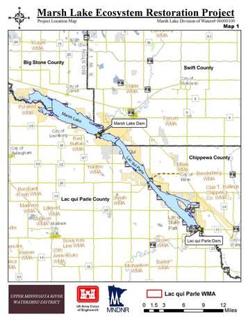 Marsh Lake map