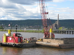 Dredge on St. Louis River in Duluth