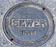 Manhole cover for wastewater
