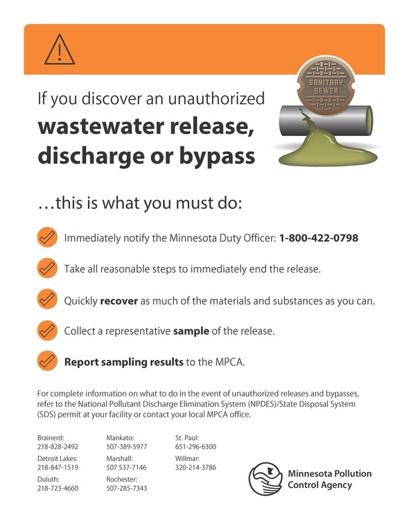 Wastewater discharge sign 2017