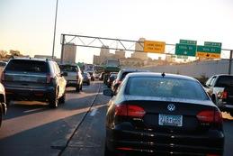 Volkswagen in traffic