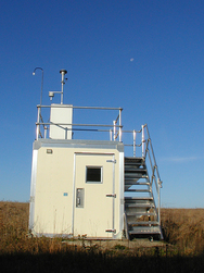 Photograph of a monitoring station