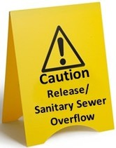 Wastewater release sign