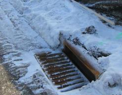 Snow on storm drain