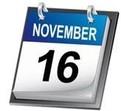 November 16 calendar