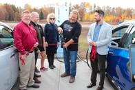 EV charging station ribbon cutting