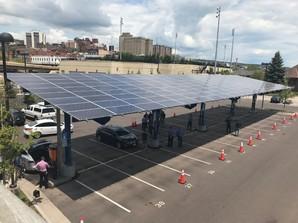 Duluth EV charging carport