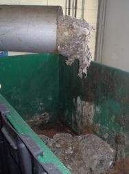 Austin, MN WWTF 2016: Wipes filling dumpster