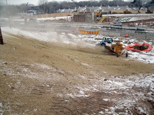 Mulching over snow in the winter