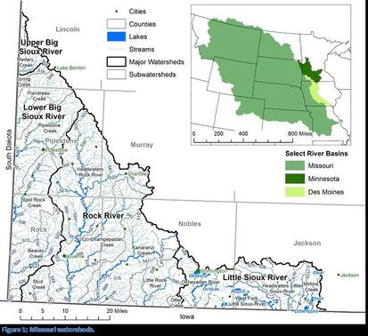 missouri river basin watersheds